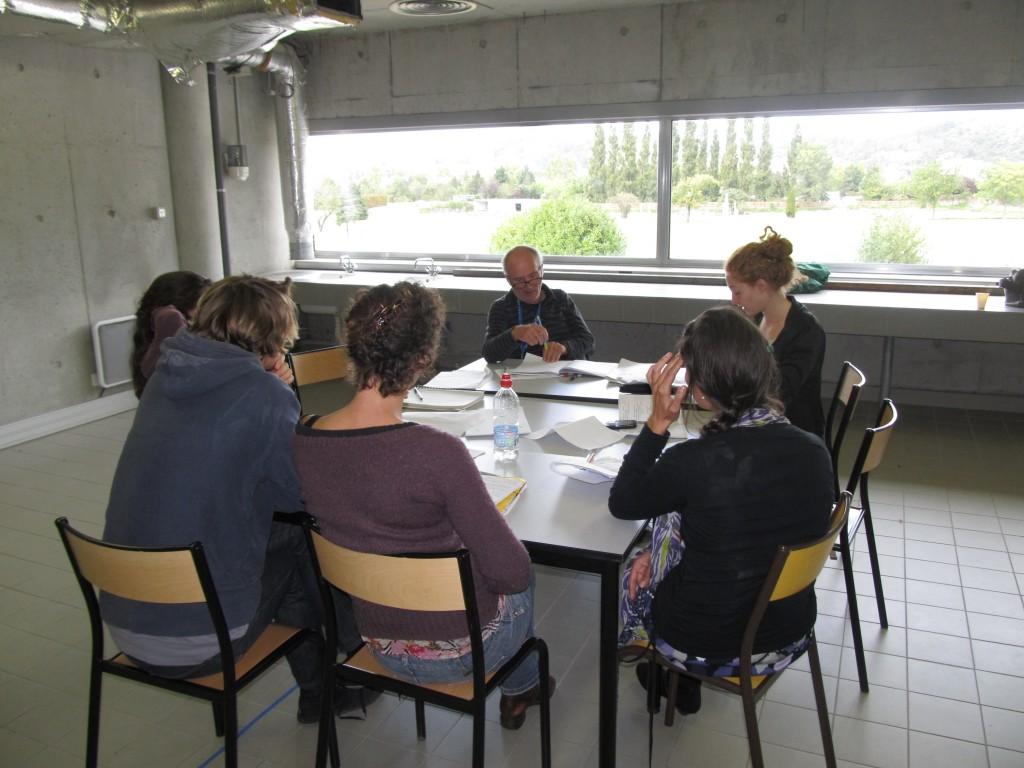 travail à la table au Musée de St Romain en Gal - septembre 2011